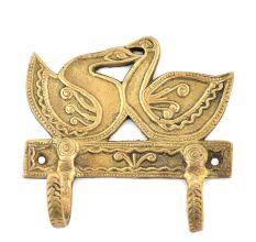 Bronze 2 Hooksed Couple Swan Hooks