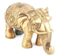Brass Elephant Figurine Trunk Downwards