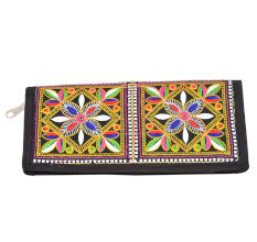 Banjara Black Border Hand Embroidered Clutch Purse