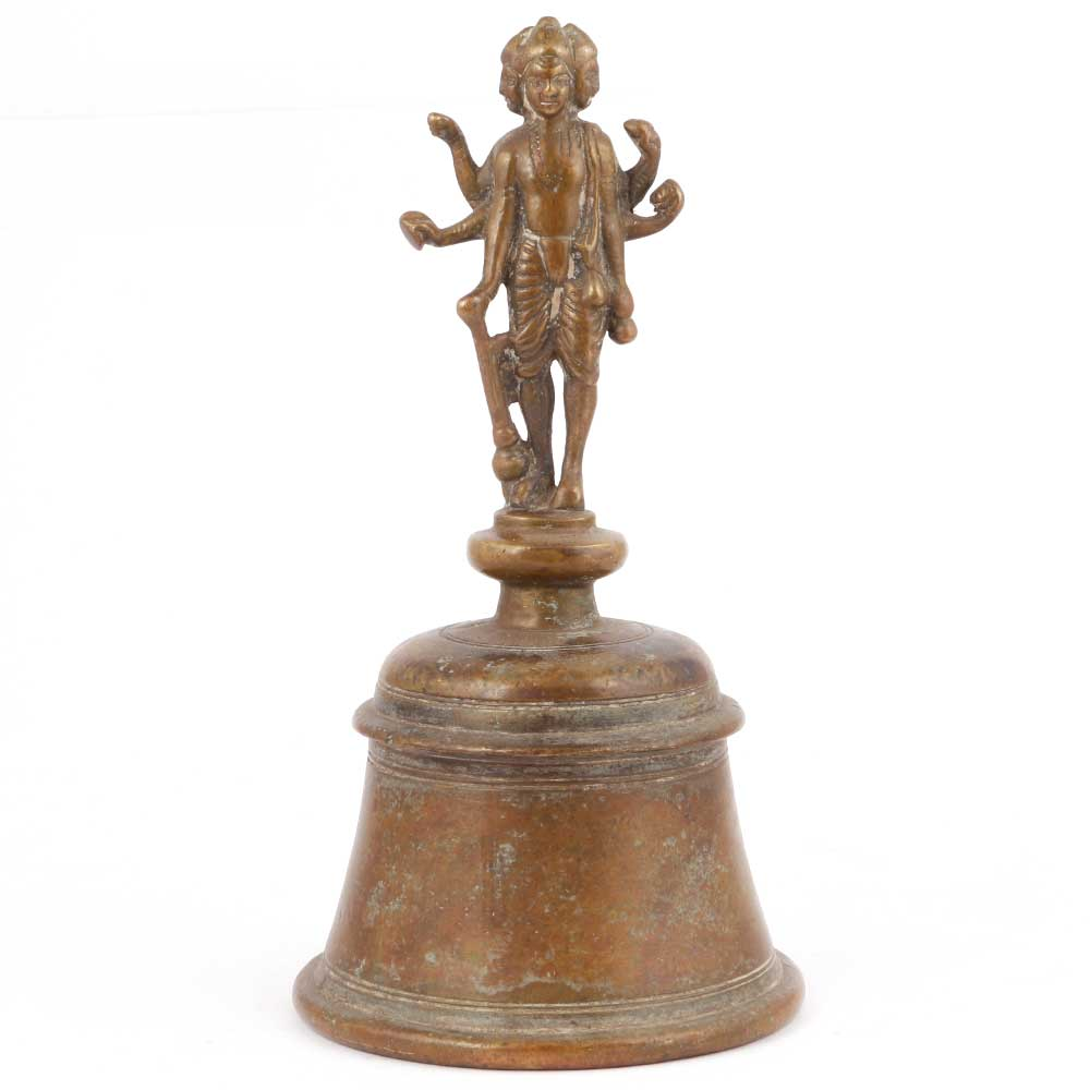 Brass Ghanti Bell with God Figurine