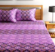 Bombay Dyeing Dew Drops Bedsheet With Two Pillow Covers: Geometric