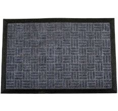 SWHF PP Embossed Rubber Door And Floor Mat : Grey Criscross