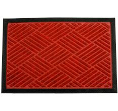 SWHF PP Embossed Rubber Door And Floor Mat : Red Diamond