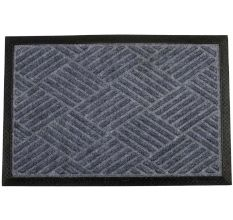 SWHF PP Embossed Rubber Door And Floor Mat : Grey Diamond