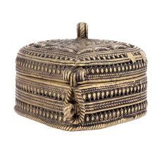 Bronze Dhokra Art Heart Shaped Jewellery Box