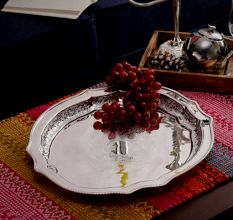 SWHF Silver Plated Victorian Oval Tray
