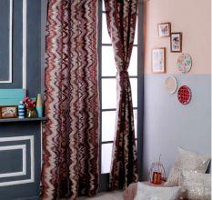 Turkish Bath Premium Jacquard Door Curtain Set of 2: Abstract