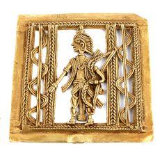 Bronze Wall Hanging Dhokra Art Lord Ram