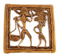 Bronze Dhokra Art Wall Hanging Daily Chores Activities