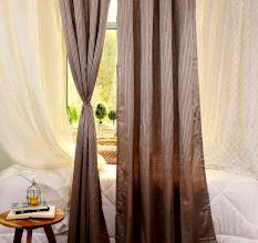 Turkish Bath Premium Jacquard Door Curtain Set of 2: Stripes