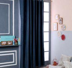 SWHF Premium Cotton Blackout Curtain (90X90): Teal Blue