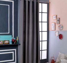 SWHF Premium Cotton Blackout Curtain (167X225): Grey