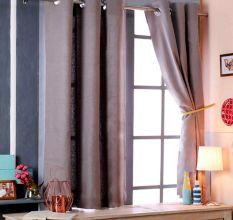 SWHF Premium Cotton Blackout Curtain (167X183): Grey