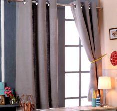 SWHF Premium Cotton Blackout Curtain Set Of 2 (117X137): Grey