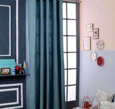 SWHF Premium Cotton Blackout Curtain (167X225): Green