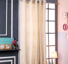 SWHF Premium Cotton Blackout Curtain (167X183): Cream