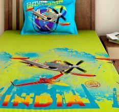 Bombay Dyeing Disney Kids Bedsheet : Planes LEG3 India