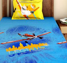 Bombay Dyeing Disney Kids Bedsheet : Planes LEG1 NYC