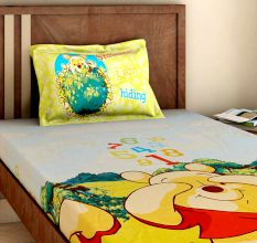 Bombay Dyeing Disney Kids Bedsheet : Winnie The Pooh Collection