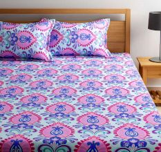 Bombay Dyeing 180 TC Cotton Double Bedsheet: Ethnic