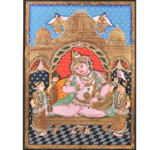 Krishna with Gopikas Tanjore Painting in Frame
