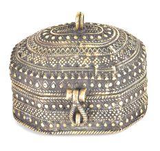 Brass Engraved Jewelry Box Dhokra Art