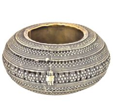 Bronze Jali Design Circular Ashtray