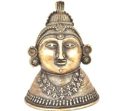 Bronze Tribal Queen Head Statue