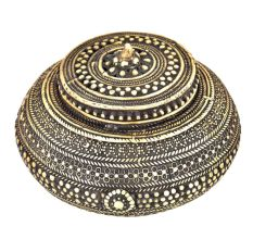 Bronze Circular Jewellery Box With Lid