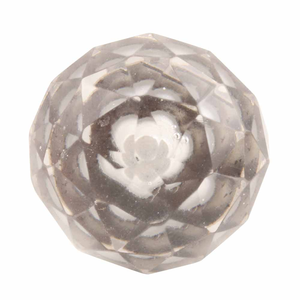 Round Diamond Cut Crystal Knob