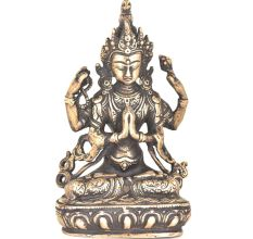 Bronze Avalokiteshvara Tibetan Lord With Four Hands