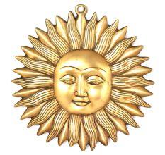 Brass Sun Face Handmade Wall Decor Hanging