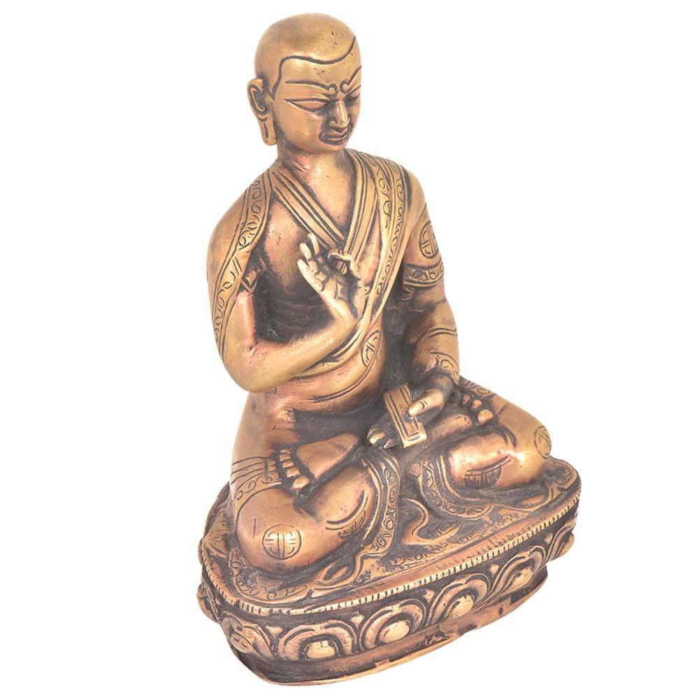 Tibet Buddhism Temple Bronze Seat lotus Statue