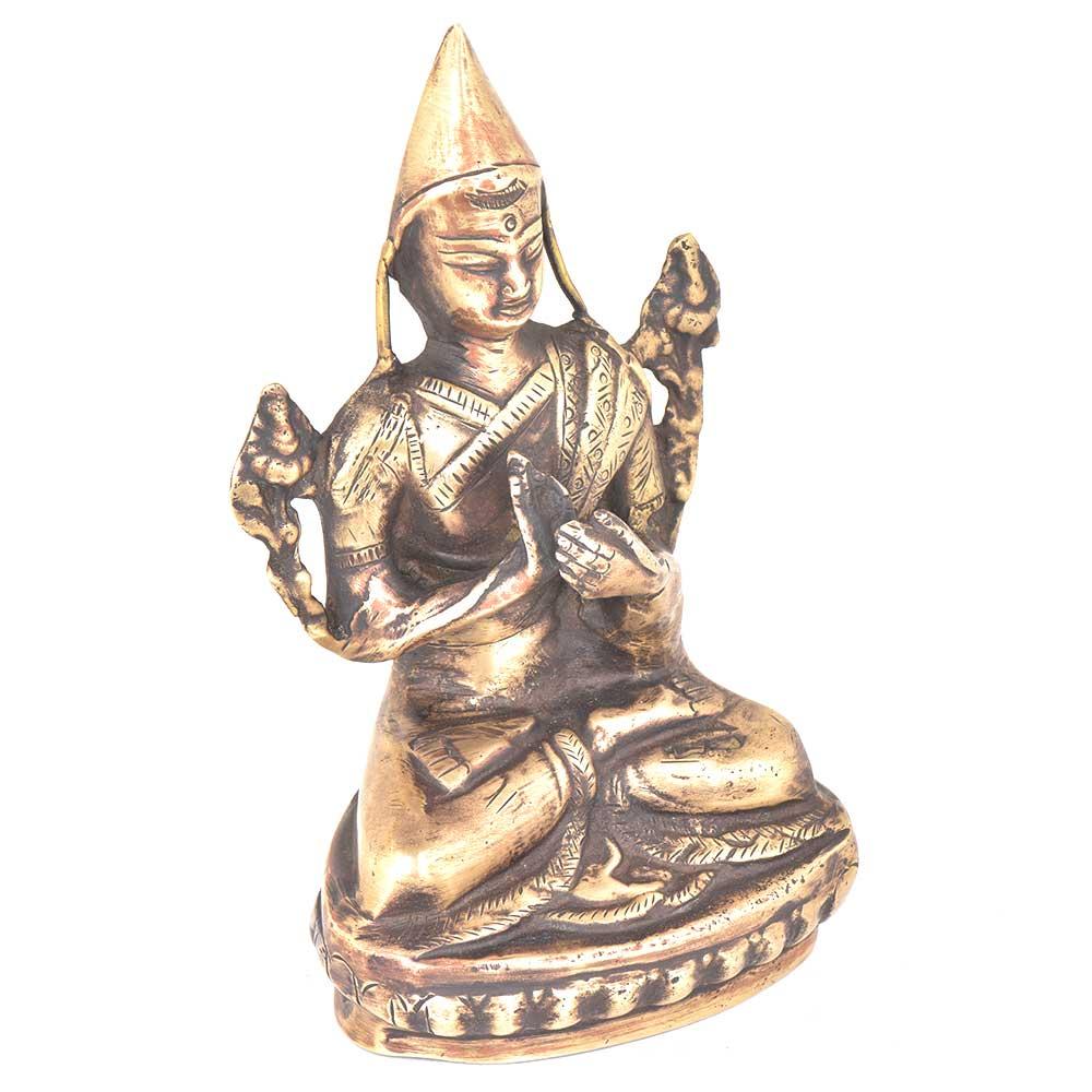 Bronze Tsongkhapa Buddha Dalai Lama Statue