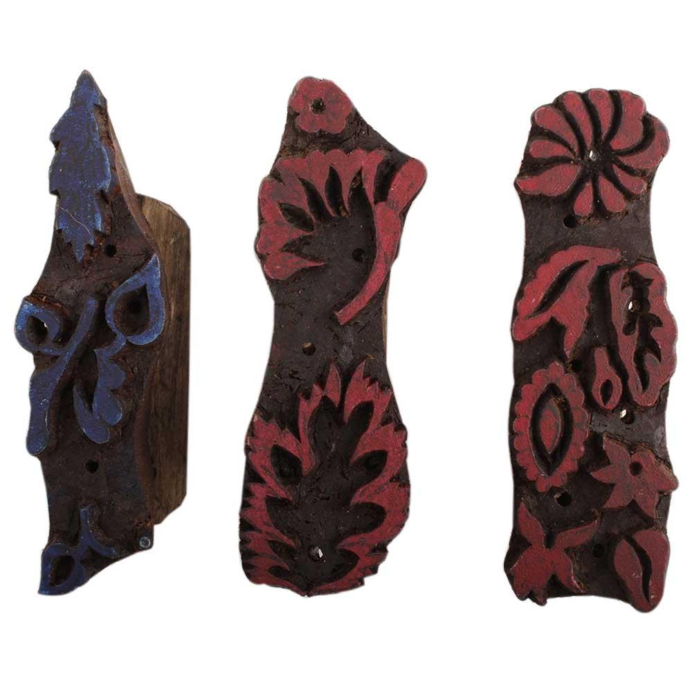 Set of 3 Piece New Wooden Printing Block
