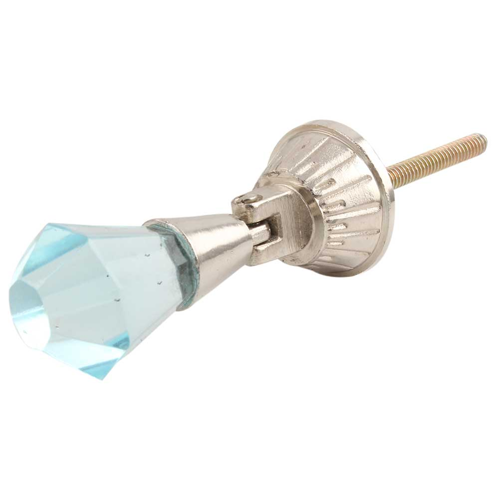 Turquoise Octagon Glass Pull Dresser Knob Online