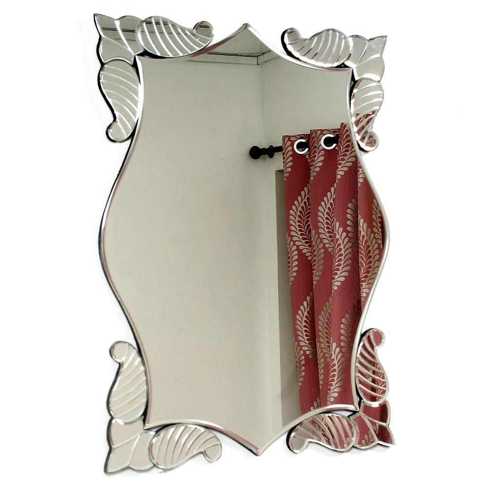 Unformed Shape Venetian Mirror
