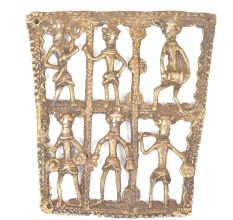 Several  Brass Human Structures Wall Hanging