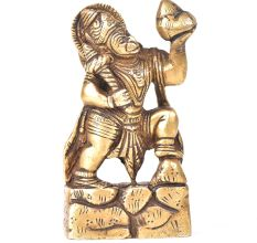 Brass Hanuman Statue Holding The Dronagiri Mountain