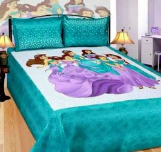 Cotton Double Bedsheet with 2 Pillow Covers King Size (100*100 Inches)- Green