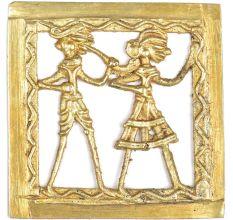 Brass Tribal Dokra Musician And  Dancer Wall Art