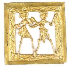 Brass Tribal  Art Wall Art with  Frame