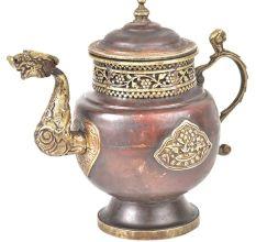 Brass & Copper Teapot Embossed Design
