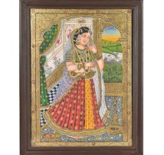 Tanjore Rajasthani Princess Painting With Frame