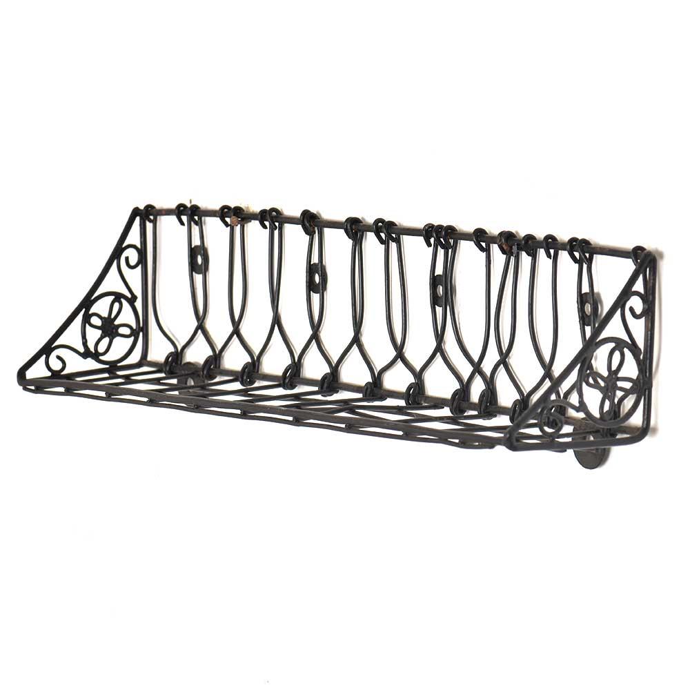 Wrought Iron Wall Shelf