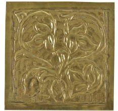 Vintage Floral Vines In Pot Engraved Wall Plate