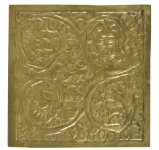 Vintage Floral Vines Engraved Wall Tile Plate