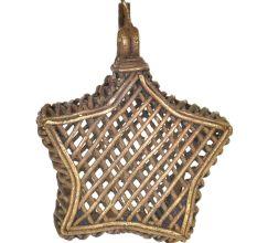 Brass Dhokra Art Tribal Star Shape Wall Hanging