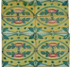 Vintage Retro Ceramic Tile Pattern