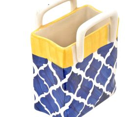 Blue Mughal Large Ceramic Cutlery Holder